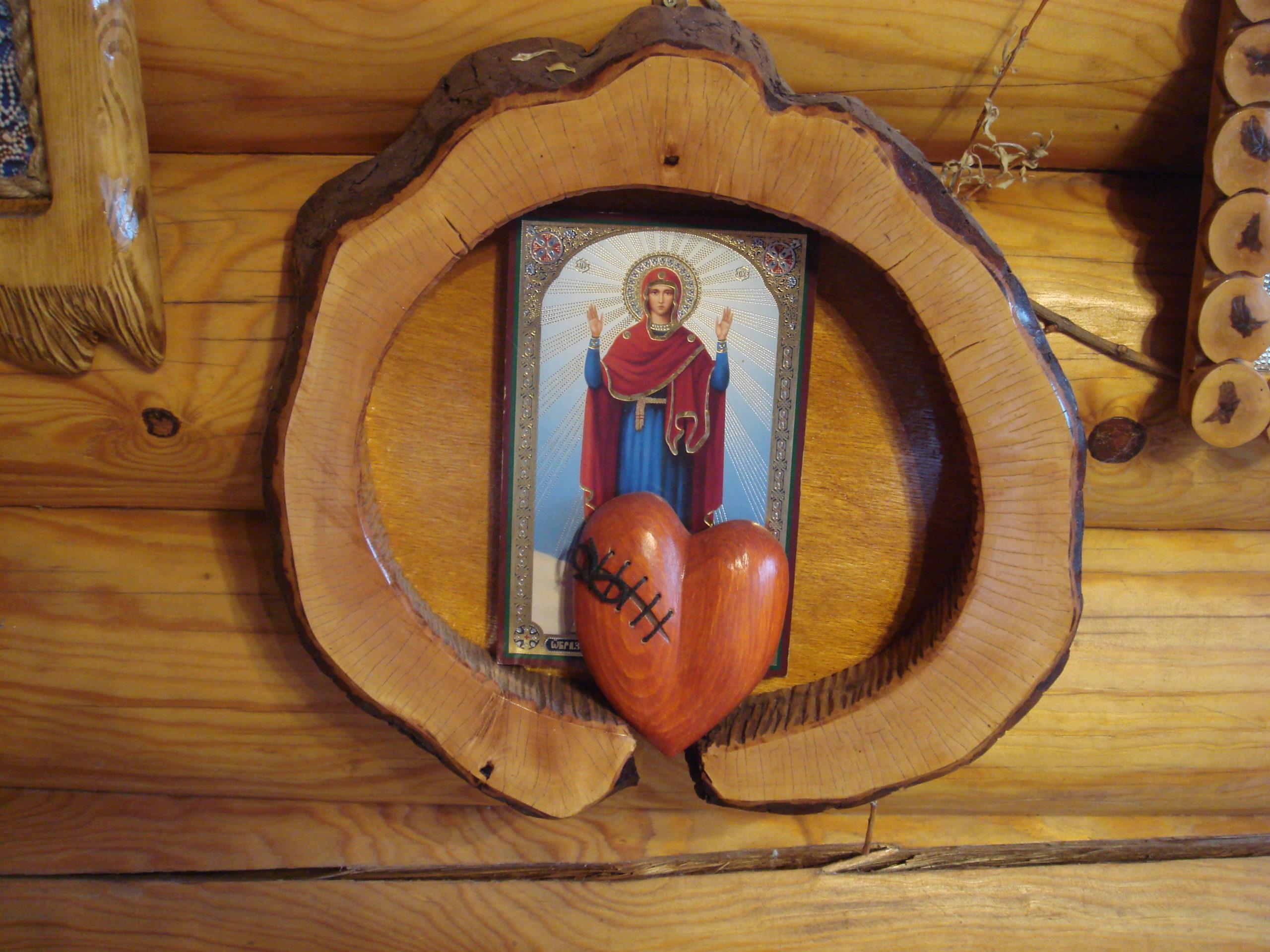 рамка для иконы своими руками Икона Божьей Матери Нерушимая стена фото
