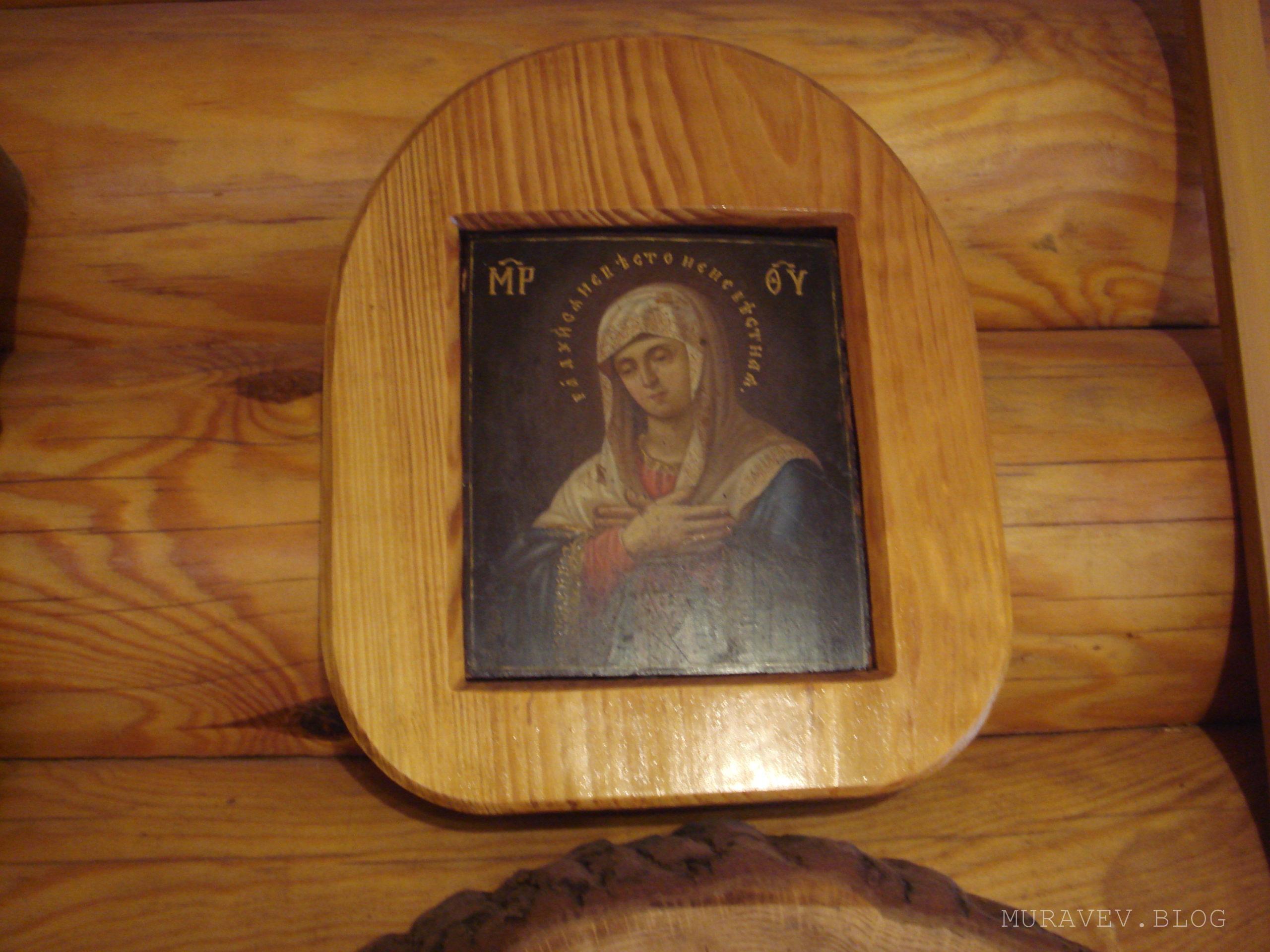 Деревянная рама для иконы Радуйся Невесто Неневестная фото