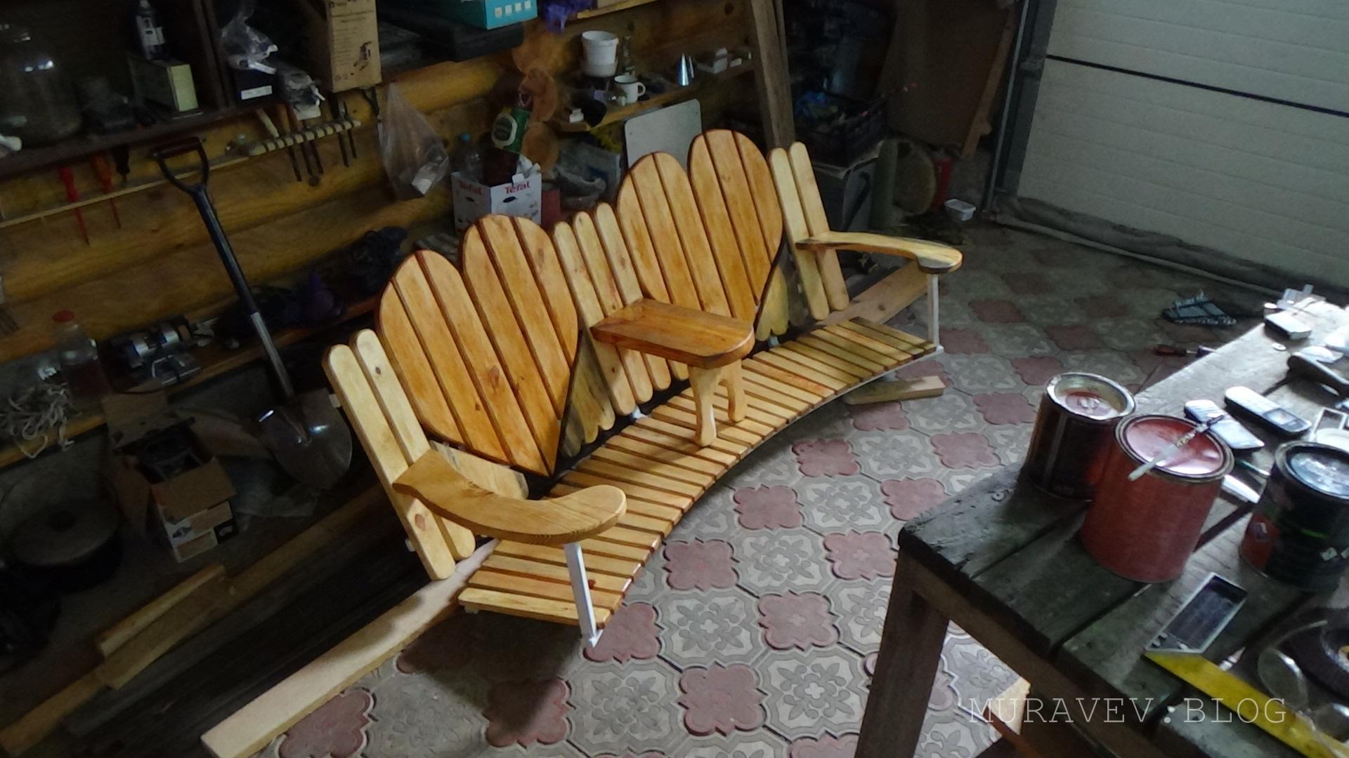 садовые скамейки из профильной трубы своими руками