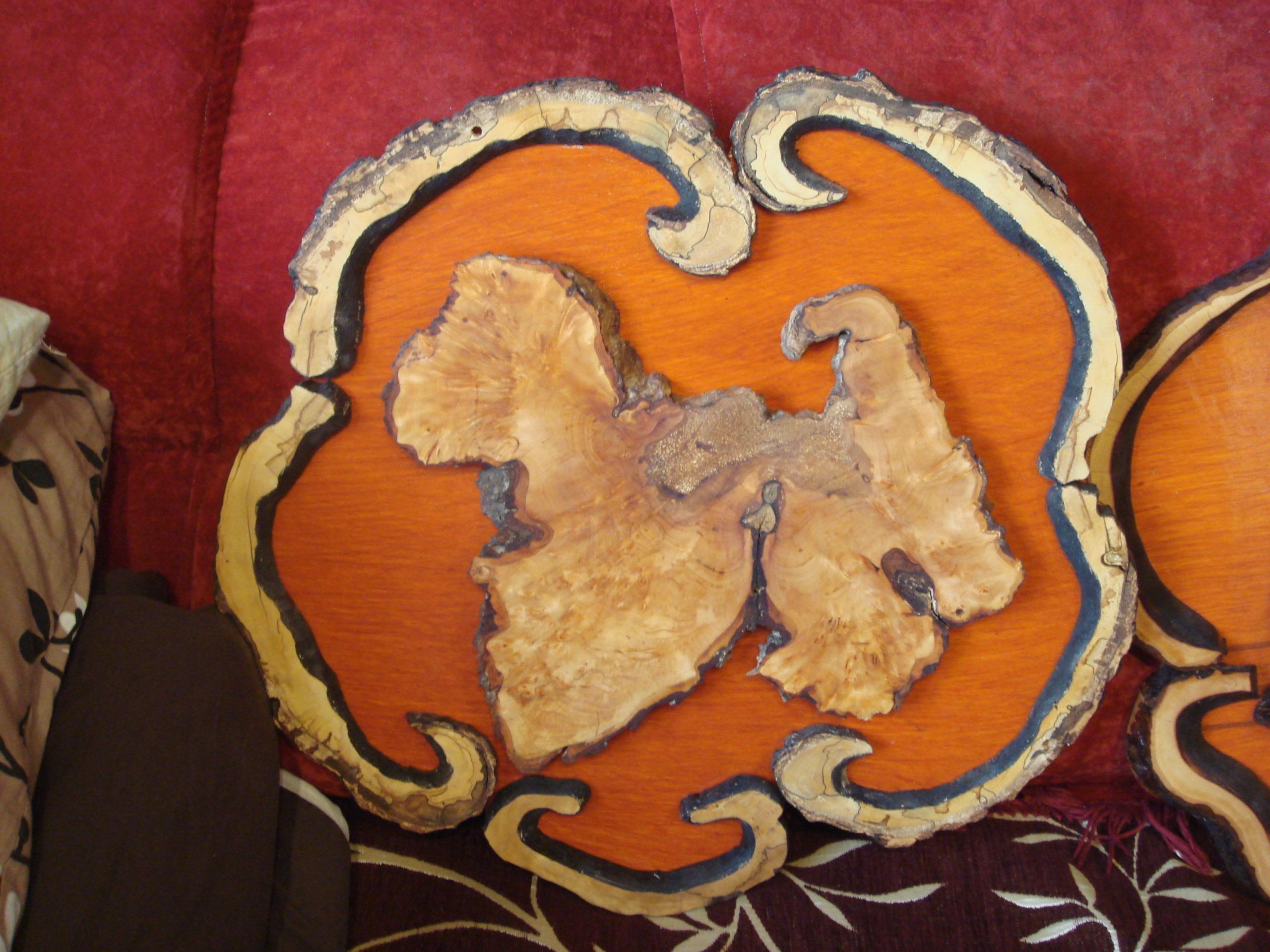 Картина картины из спилов дерева своими руками фото - собака