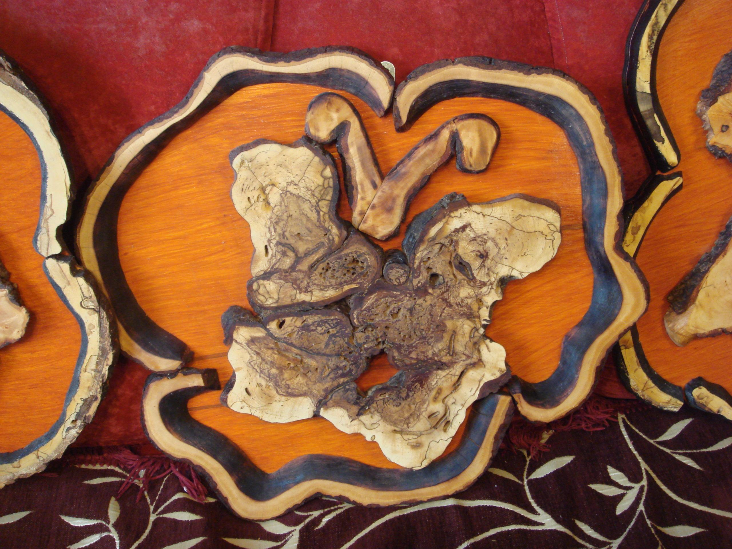Бабочка из дерева - картина ручной работы фото