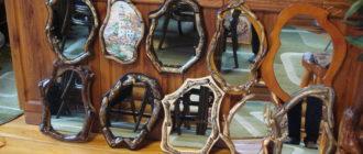 Коллекция зеркал своими руками из дерев фото