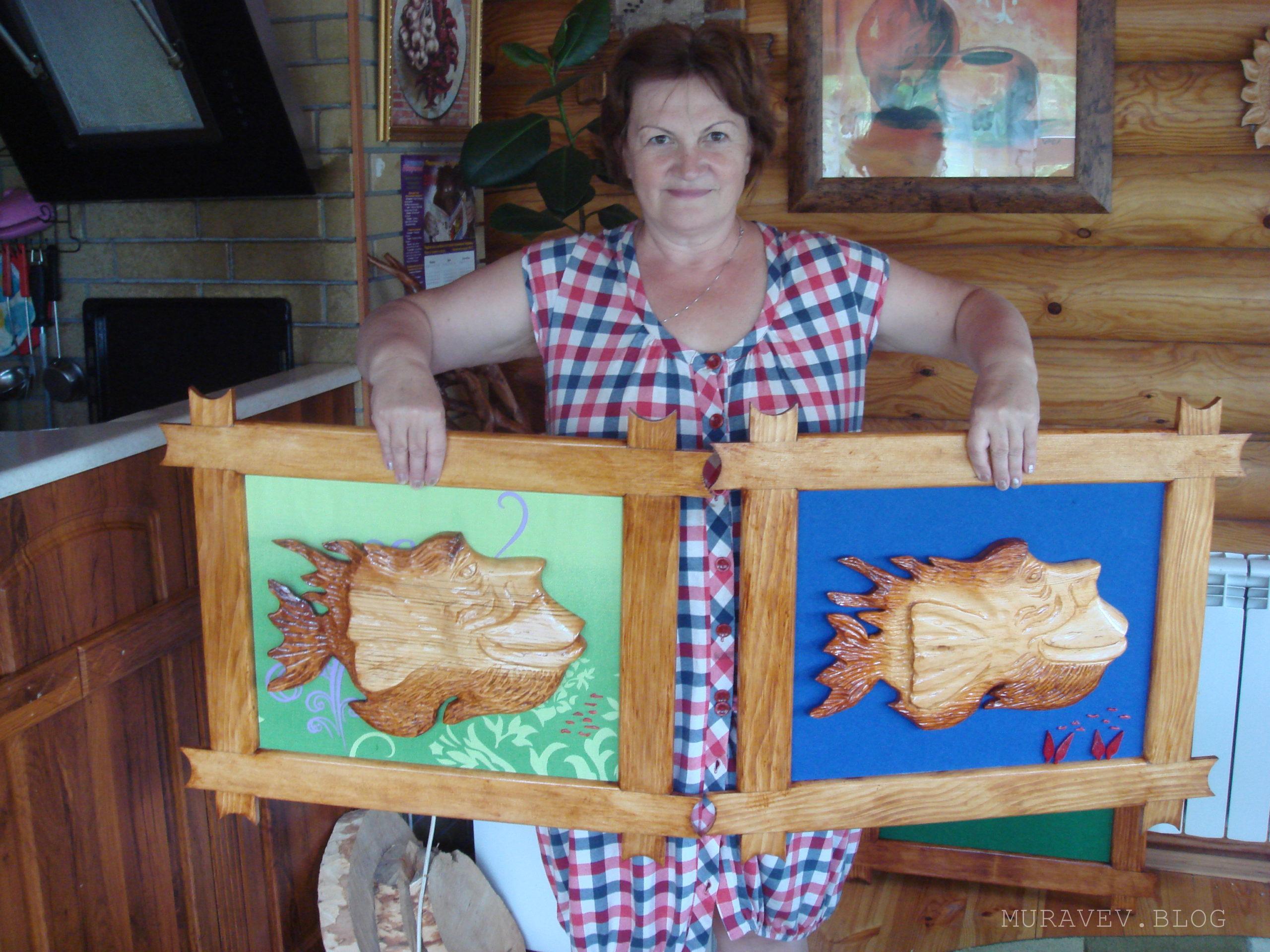 картина из спила дерева своими руками рыба