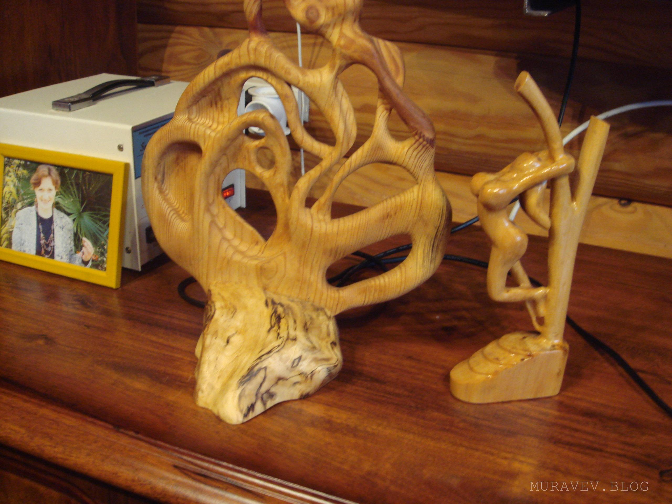 Фигурки и статуэтки из дерева своими руками